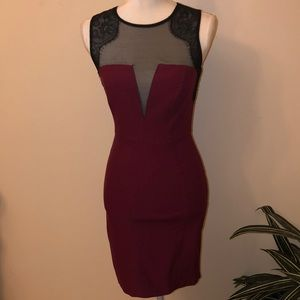 Mesh top Mini Dress